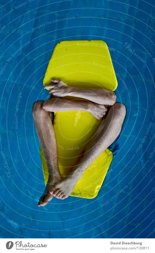 Man Funny Swimming & Bathing Individual Swimming pool To hold on Float in the water Whimsical Surface of water Anonymous Water wings Headless Unrecognizable