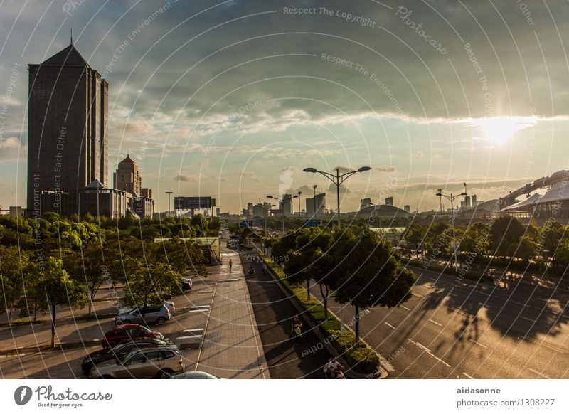 Sky City House (Residential Structure) Street Architecture Building Living or residing Car High-rise Driving Asia Traffic infrastructure Downtown Luxury China