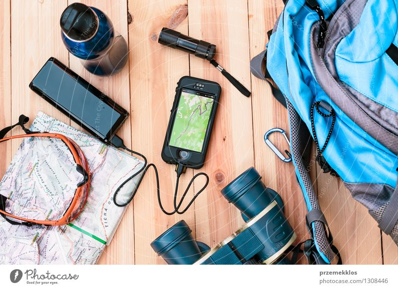 Charging on the go Bottle Vacation & Travel Trip Adventure Summer vacation Mountain Hiking Table Financial institution Telephone Cellphone Sunglasses Binoculars