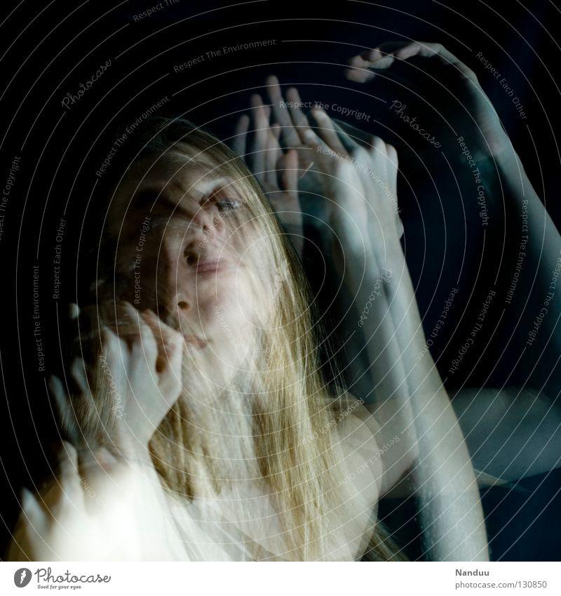 Woman Calm Dark Emotions Movement Dream Dance Blonde Near Trust Touch Catch Frozen Ghosts & Spectres  Surrealism Pallid