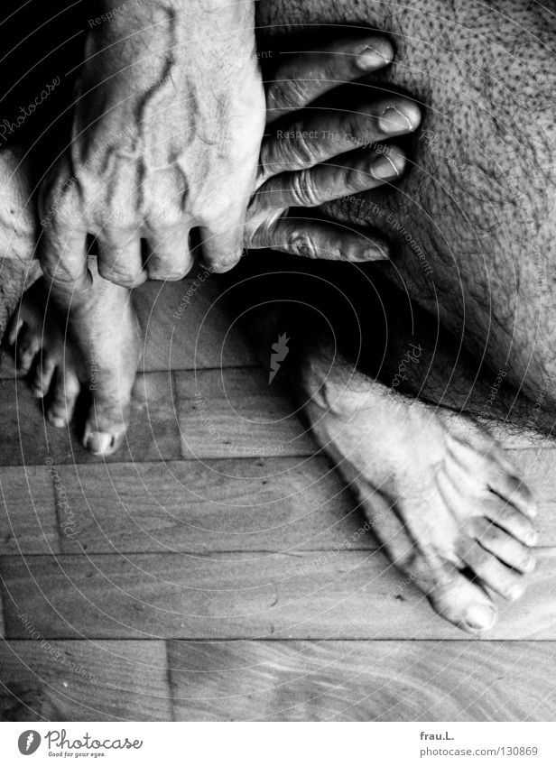 Human being Man Old Hand Loneliness Calm Naked Hair and hairstyles Legs Feet Sit Skin Wait Fingers Floor covering 50 plus