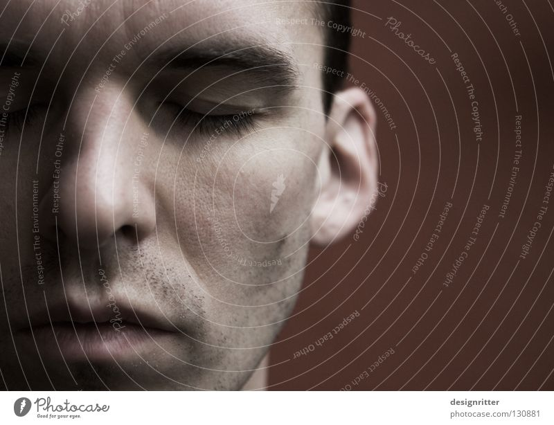 Man Face Wall (barrier) Think Mouth Nose Perspective Trust Concentrate Fatigue Backward Close Understanding Comprehend Retreat Misunderstanding