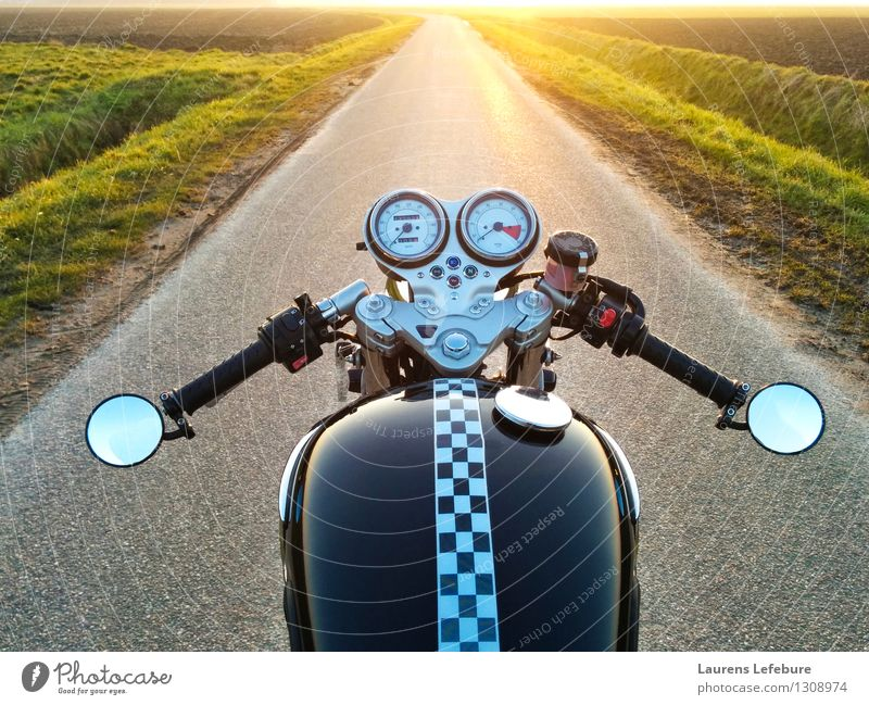 Motorcyle horizon Style Ride Motorcyclist Vacation & Travel Tourism Trip Adventure Freedom Motorsports Deserted Motorcycle Driving Esthetic Cool (slang)
