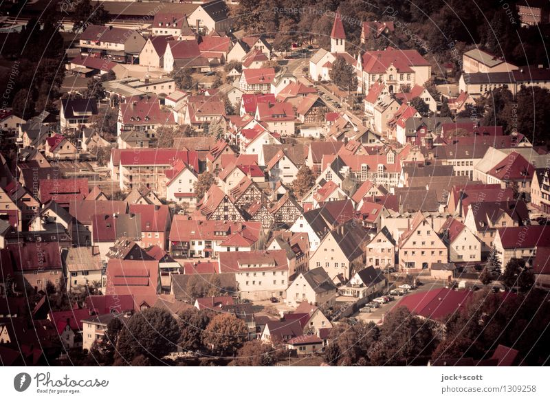 Little village place City trip Architecture Summer Beautiful weather Franconia Village Old town House (Residential Structure) Authentic Far-off places Historic