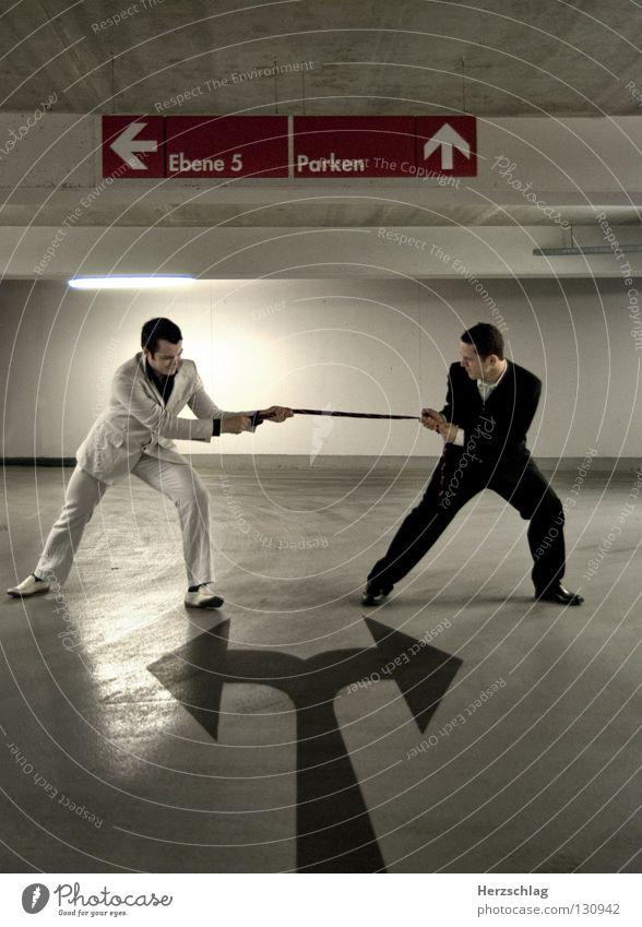 Tie fight Black White Right Left Tug-of-war Shirt Jacket Footwear Pants Success Arrow Fight Argument Business Leader