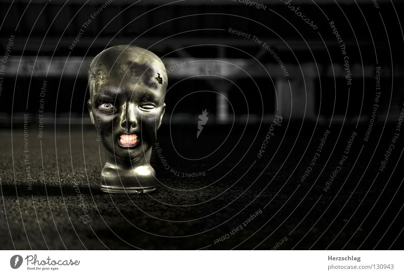 Black Eyes Head Mouth Crazy Set of teeth Monster Frightening Image editing Zombie