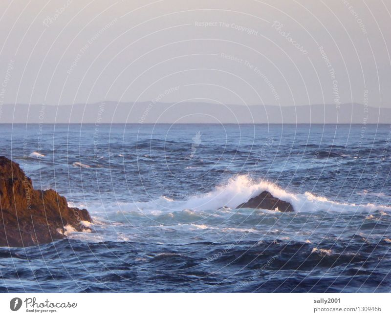 in the background Northern Ireland... Nature Waves Coast Ocean Atlantic Ocean Scotland Movement Relaxation Fantastic Gigantic Infinity Maritime Natural