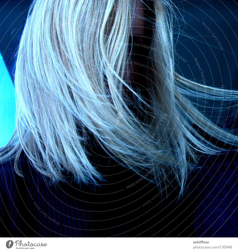 Shake your hair... Hair and hairstyles Wig Blonde Strand of hair Grief Crybaby Unfriendly Withdrawn Sleep Doze Lovesickness Distress Portrait photograph Woman