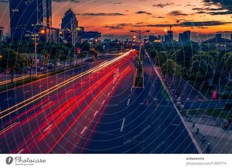 Vacation & Travel City House (Residential Structure) Street Architecture Living or residing High-rise Driving Asia Traffic infrastructure Downtown China Road traffic Jiangsu