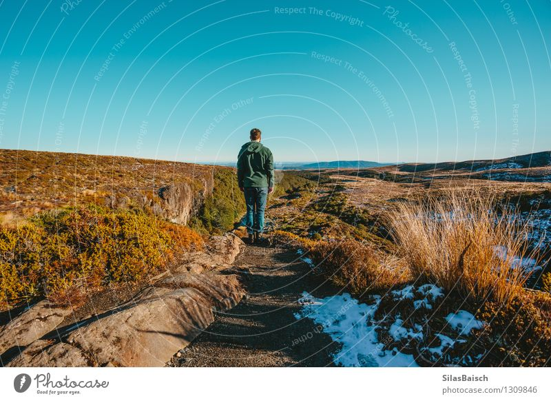 Exploring the Wilderness Human being Nature Vacation & Travel Youth (Young adults) Man Landscape Young man Far-off places 18 - 30 years Winter Adults Mountain Snow Freedom Rock Masculine