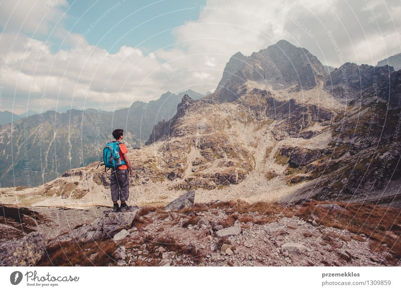 Hike in the Tatra Mountains Lifestyle Vacation & Travel Trip Adventure Far-off places Freedom Summer Summer vacation Hiking Young man Youth (Young adults) 1