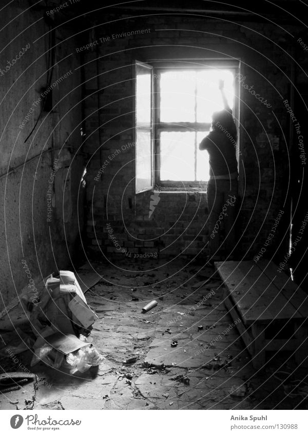 - hello morning - Dark Dirty Trash Dust Window Light Good morning Welcome Leaf Derelict Brick Grief Search Skeptical Hope Stand Wave Black White Gray Hardcore