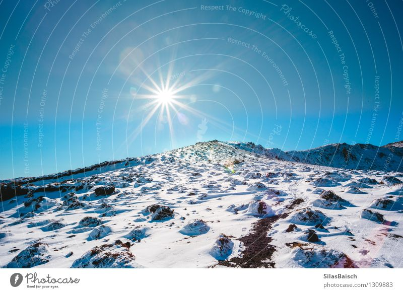 Hiking up the Mountain Vacation & Travel Tourism Trip Adventure Far-off places Freedom Winter Snow Winter vacation Environment Nature Landscape Sunrise Sunset