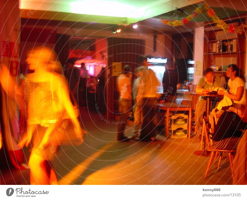 nightlife Party Long exposure Bar Gastronomy Light (Natural Phenomenon) Movement Colour Roadhouse Alcoholic drinks