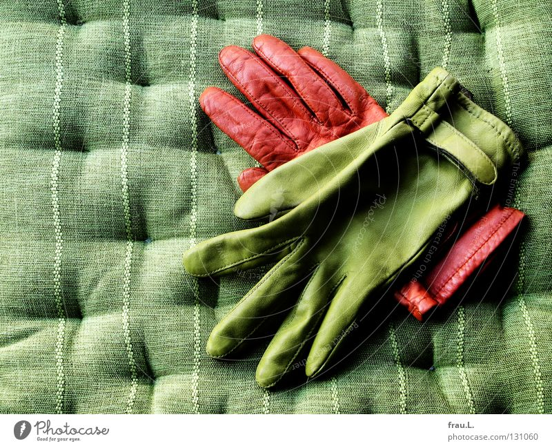 Green Orange Friendship Together In pairs Clothing Decoration Cuddly Leather Converse Left Cushion Gloves Right