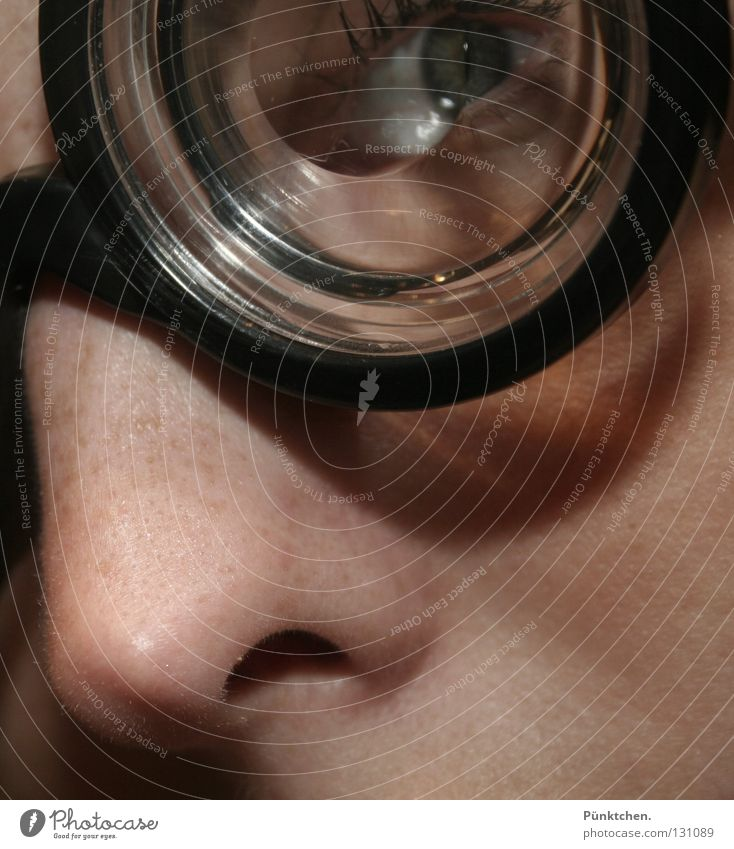 Face Black Eyes Funny Skin Glass Nose Round Eyeglasses Doctor Whimsical Transparent Cheek Pallid Freckles Eyelash