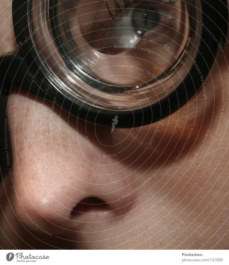 porthole Eyeglasses Glass Blind Nostril Freckles Eyelash Porthole Black Framework Vision Cheek Tip of the nose Optician Laser Hanger Transparent Doctor Round