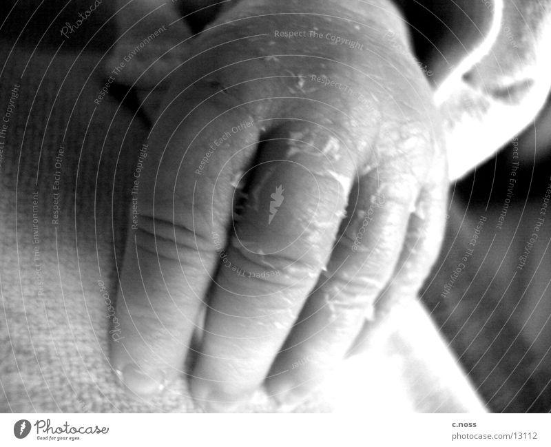 Marla's hand Baby Hand Fingers Children`s hand Black & white photo