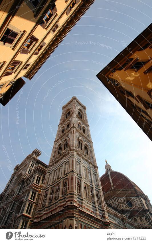 Florence, perspective Vacation & Travel Tourism City trip Cloudless sky Beautiful weather Italy Tuscany Town Downtown Old town Deserted