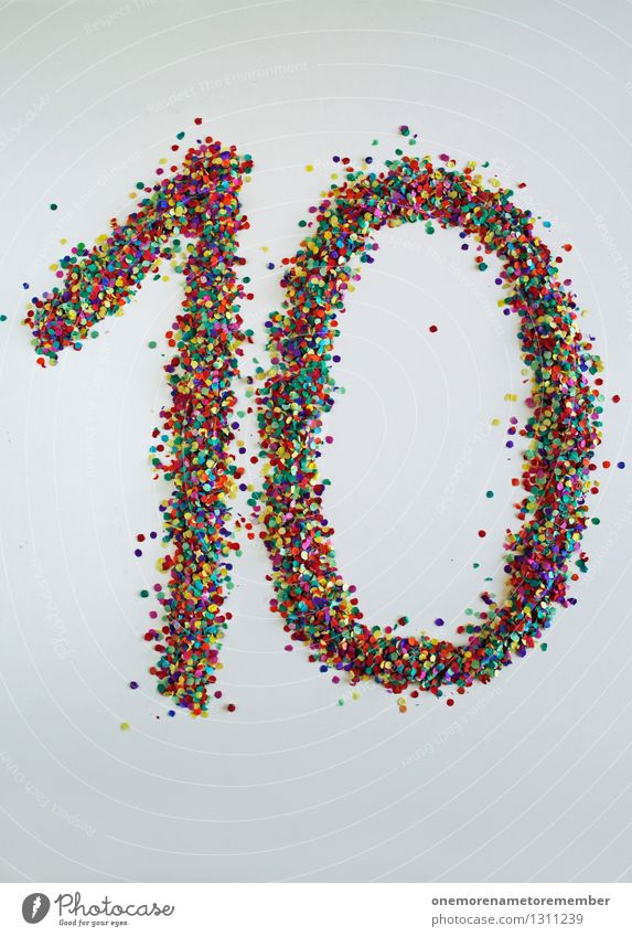 Joy 1 Art Birthday Esthetic Creativity Digits and numbers 8 - 13 years 0 Work of art Confetti Fashioned 10 Jubilee Countdown