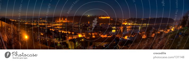 Passau II Bavaria HDR Town City hall House (Residential Structure) Lighting Panorama (View) Flat (apartment) Dark Border Brewery Sunset Long exposure Historic