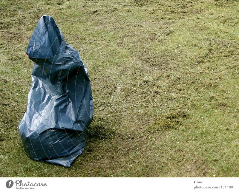 Blue Meadow Grass Garden Park Work and employment Lawn Trash Statue Gardening Trash container Pouch Sack Containers and vessels Packaged Tidy up