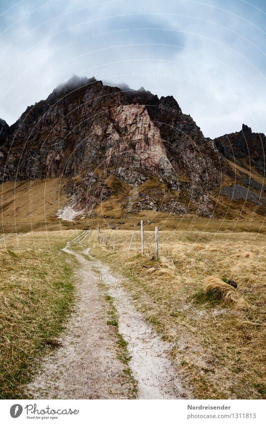 Vesterålen.... Vacation & Travel Trip Far-off places Freedom Hiking Nature Landscape Elements Sky Clouds Climate Bad weather Grass Rock Mountain Lanes & trails