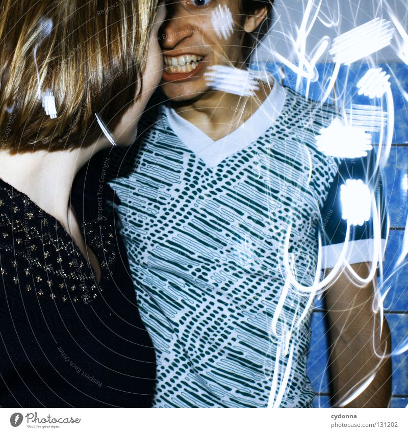 Woman Human being Man Blue Joy Colour Life Emotions Style Party Movement Think Earth Line Couple Power