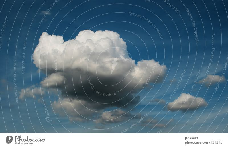 Sky White Blue Clouds Dark Gray Rain Power Weather Large Force Thunder and lightning Impressive Bad weather