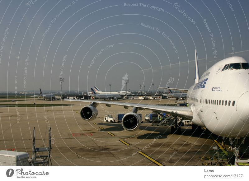 Aviation Wing Paris Airport Section of image Partially visible Jet Engines Runway Passenger plane