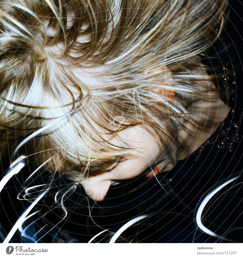 Woman Human being Blue Joy Colour Life Emotions Style Party Movement Think Earth Line Power Fear Time