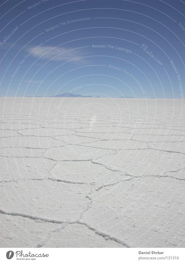 Salar de Uyuni (salt lake of Uyuni) Salt  lake Bolivia Badlands Loneliness South America Salt flats White Clouds Crust Dry Empty Salty Die of thirst Drought
