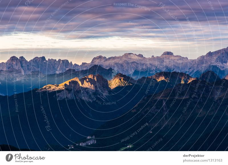 sunrise in the dolomites Vacation & Travel Tourism Trip Adventure Far-off places Freedom Expedition Mountain Hiking Environment Nature Landscape Plant Summer