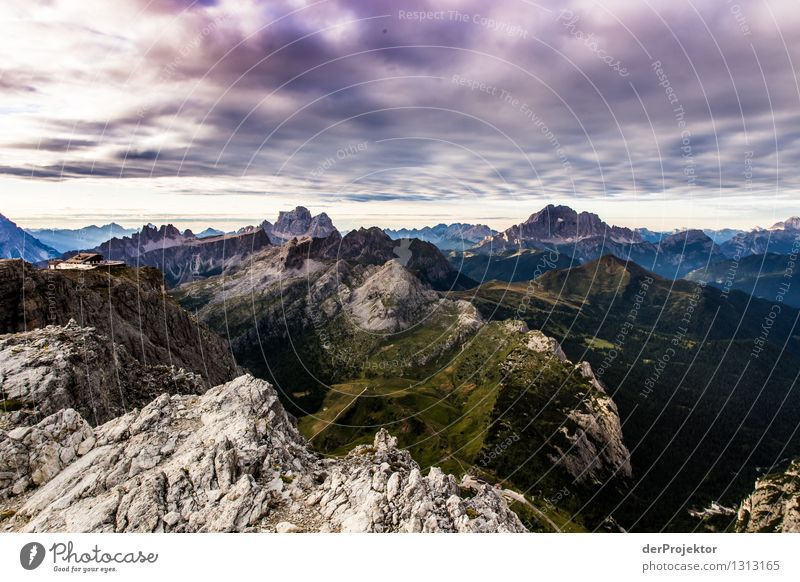 Panoramic view with the Rifugio Lagazuòi Vacation & Travel Tourism Trip Far-off places Freedom Mountain Hiking Environment Nature Landscape Plant Animal