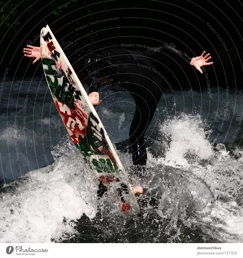 Hand Water Sports Playing Feet Surfing Anonymous Surfer Aquatics