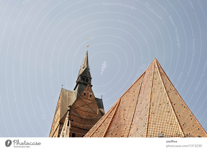 Religion and faith Church Beautiful weather Roof Tower Cloudless sky Hannover