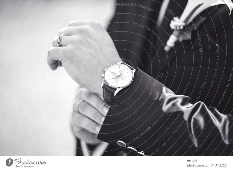 Human being Hand Masculine Cool (slang) Hip & trendy Jewellery Accessory Precious Expensive Bride groom Wristwatch