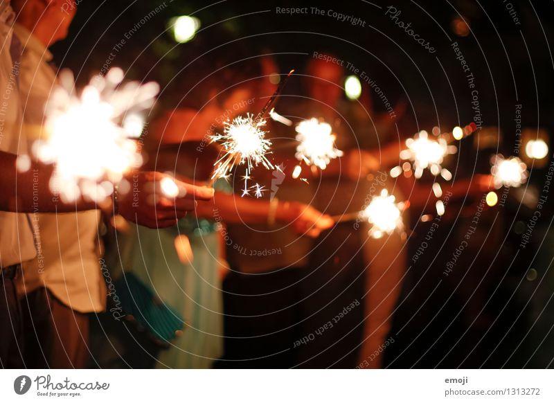 sparkle Feasts & Celebrations Wedding Hand Kitsch Odds and ends Candle Sparkler Joie de vivre (Vitality) Colour photo Exterior shot Night Artificial light