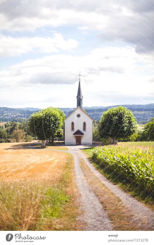 Nature Green Summer Landscape Environment Spring Autumn Natural Religion and faith Field Beautiful weather Chapel