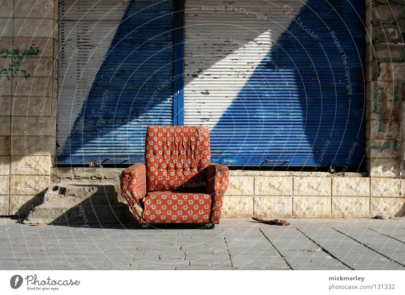 White Blue City Red Summer Calm Street Trash Sofa Tile Cloth Store premises Collection Checkered