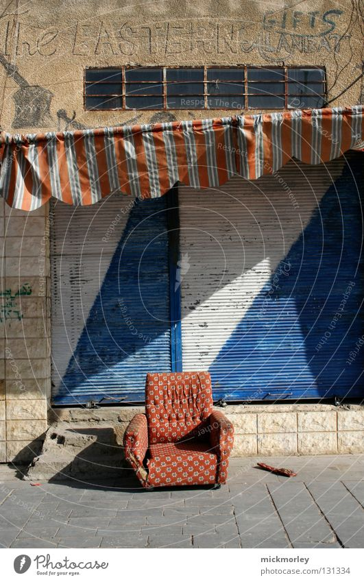 White Blue City Red Summer Calm Street Trash Sofa Stripe Tile Cloth Store premises Collection Checkered Sun blind