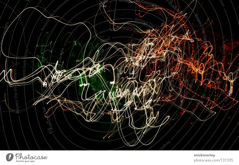 light sperm Long exposure Exposure Stripe Chaos Painting and drawing (object) Time Muddled Black Background picture Wobble Universe Line warr Agitated