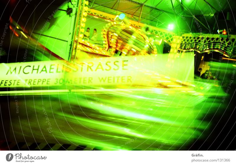 Green Joy Playing Signs and labeling Speed Hamburg Signage Underground Fairs & Carnivals Double exposure Dome Subsoil Vertigo Theme-park rides Showman Cross processing