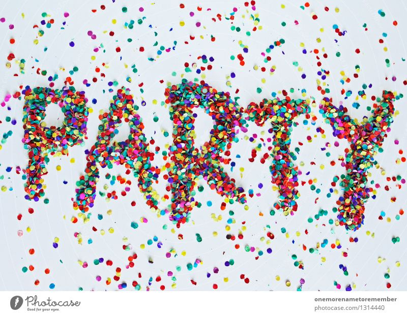 party Art Esthetic Party Party mood Party night Party service Party space Confetti Good mood Characters Typography Many Mosaic Colour photo Multicoloured