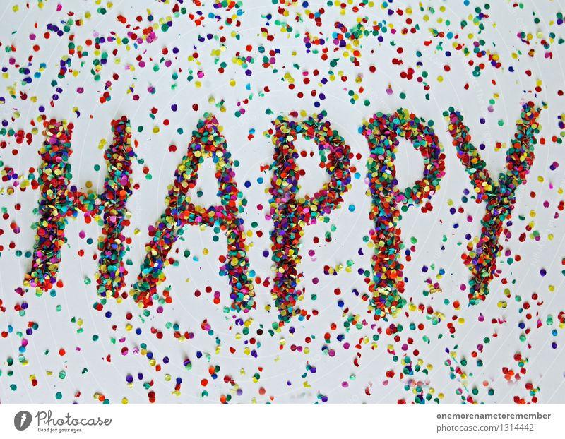 happy Art Esthetic Happy Birthday Joy Comical Party Mosaic Confetti Many Typography Home-made Colour photo Multicoloured Interior shot Experimental Abstract