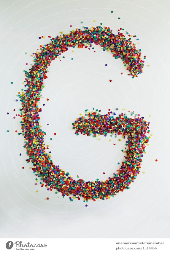 G wie: point Art Work of art Esthetic g Letters (alphabet) Typography Creativity Design Design studio Design museum Many Confetti Multicoloured Happy