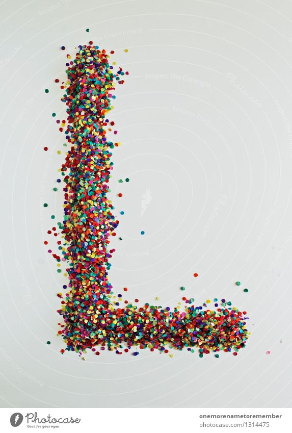 L wie: Looser! Art Esthetic Letters (alphabet) Typography Design Design studio Design museum Creativity Many Point Confetti Mosaic Colour photo Multicoloured