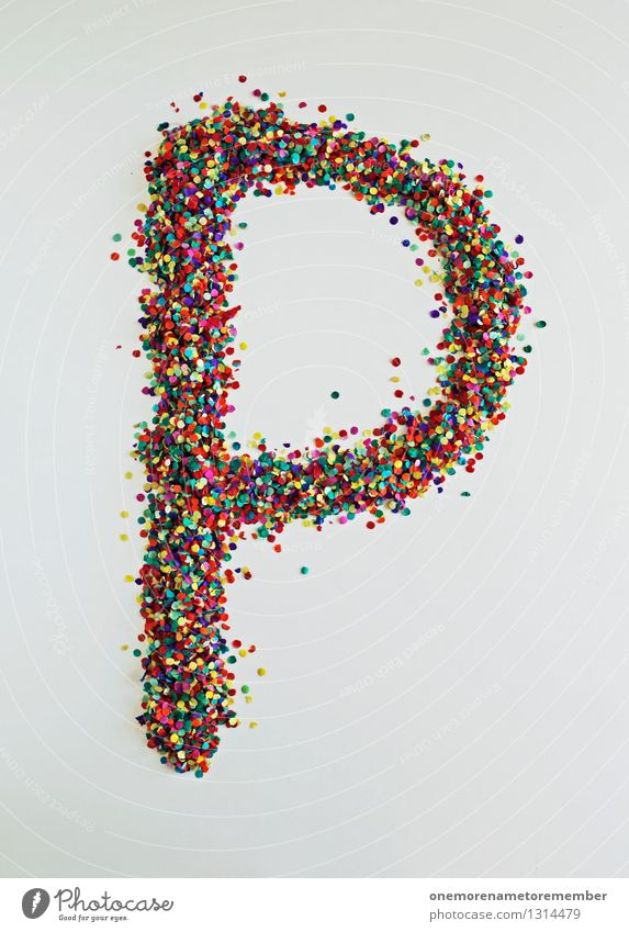P like: enis Art Work of art Esthetic Penis Letters (alphabet) Typography Confetti Design Design studio Design museum Multicoloured Creativity Colour photo
