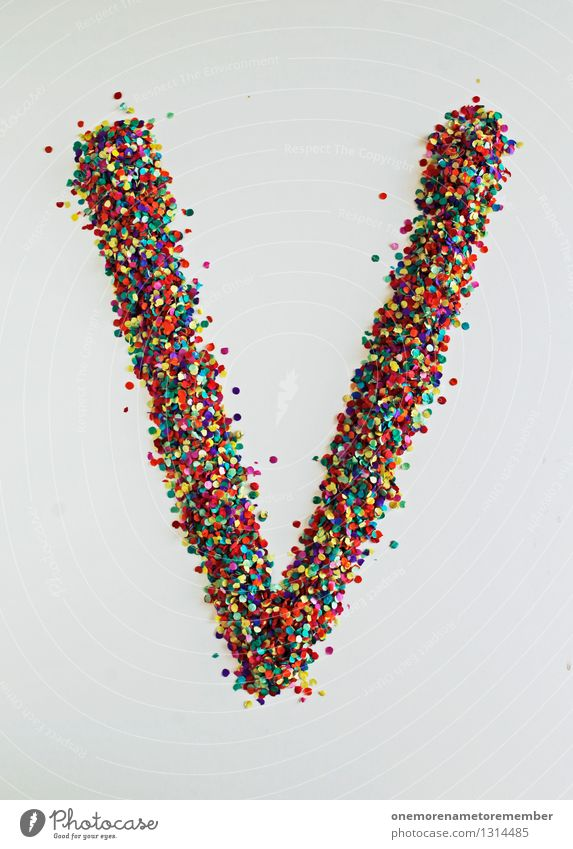 V wie: peace Art Esthetic Letters (alphabet) Typography Creativity Design Design studio Design museum Confetti Fashioned Many Mosaic Multicoloured Colour photo