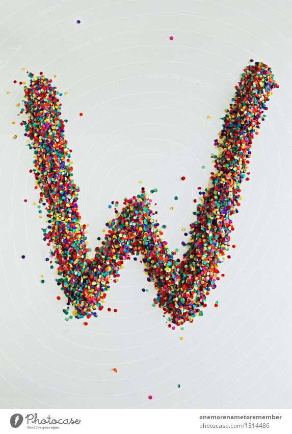 W wie: WWW Art Esthetic Letters (alphabet) Typography Creativity Design Design studio Design museum Confetti Multicoloured Point Colour photo Interior shot